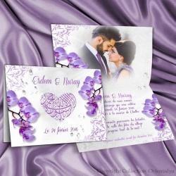 Faire-part Orchidées Bismillah - Parme