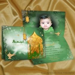 Faire-part Aladin - Vert