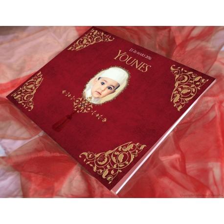 Livre d'or Petit prince - rouge et or