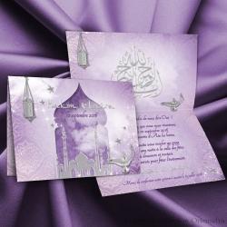 Faire-part Palais Oriental - Violet
