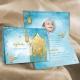 Faire-part circoncision Aladin - Turquoise et doré