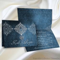 Faire-part Bijoux - Bleu