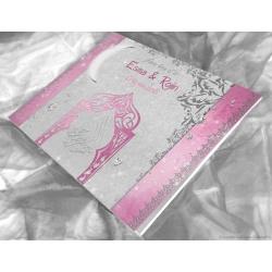 Livre d'or Diamant deluxe - Argent Rose