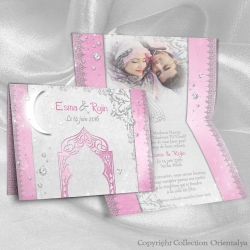 Faire-part Diamant Deluxe - Rose