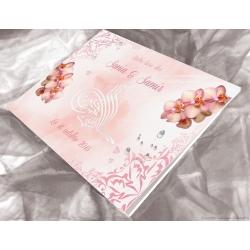 Livre d'or Orchidées - Rose