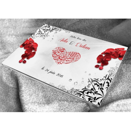 Livre d'or Orchidées - Rouge
