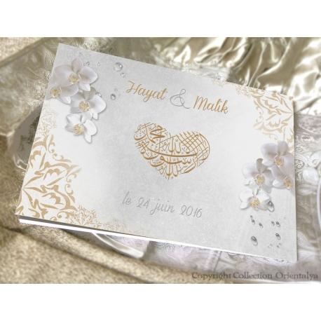 Livre d'or Orchidées - Or