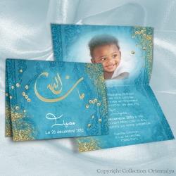 Faire-part Mashallah - Turquoise