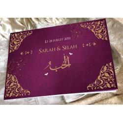 Livre d'or Arabesques - Prune