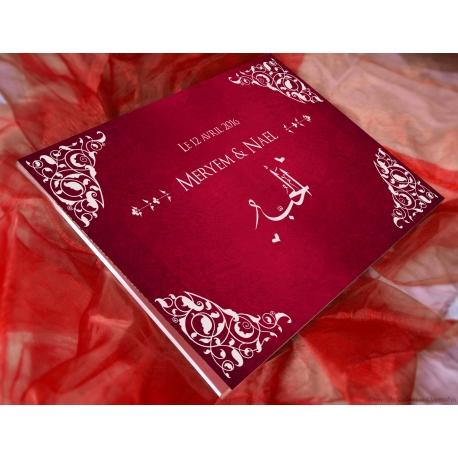 Livre d'or Arabesques - Rouge