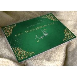Livre d'or Arabesques - Vert