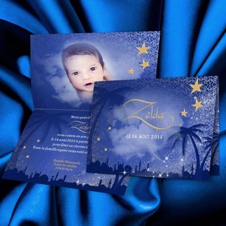 Faire-part Sahara - Bleu