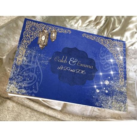Livre d'or Marrakech - Bleu