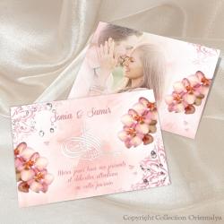 Remerciement Orchidées Bismillah - Rose