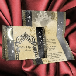 Faire-part Diamant Deluxe - Noir