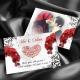 Remerciement Orchidées Bismillah - Rouge et noir
