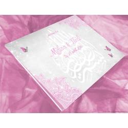 Livre d'or Papillons - Rose