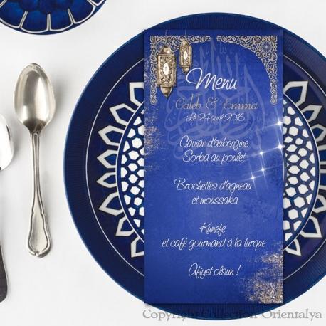Menu Marrakech - Bleu