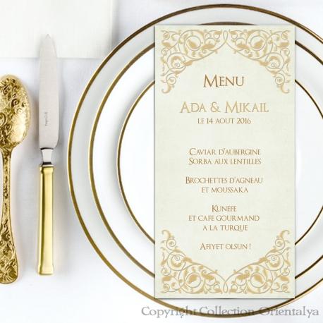 Menu Arabesques - Or