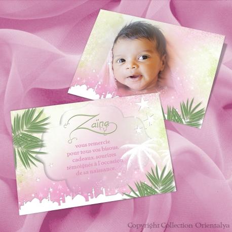 Remerciement Zaina